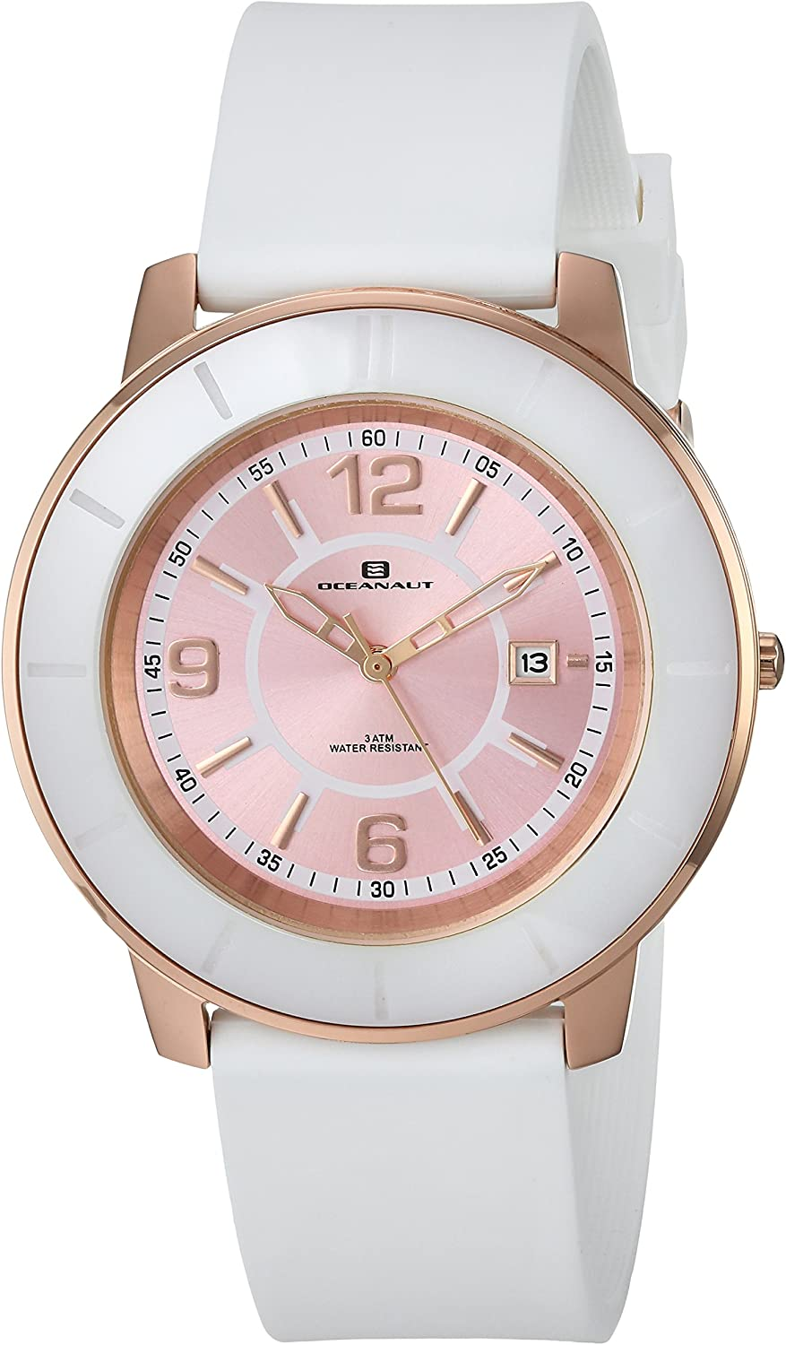 Cheap sale Oceanaut Women's Satin Stainless Steel Silicone All stores are sold Wh Quartz Strap