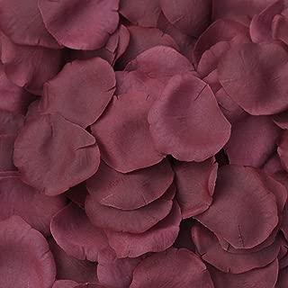TheBridesBouquet.com Burgundy Silk Rose Petals - 250 Petals - Wedding Centerpiece
