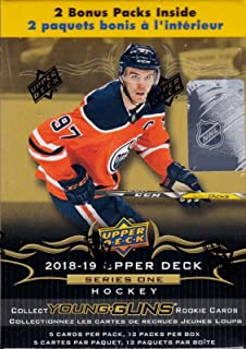71203089d 2018 2019 Upper Deck NHL Hockey Series One Factory Sealed Unopened Blaster  Box of 12 Packs