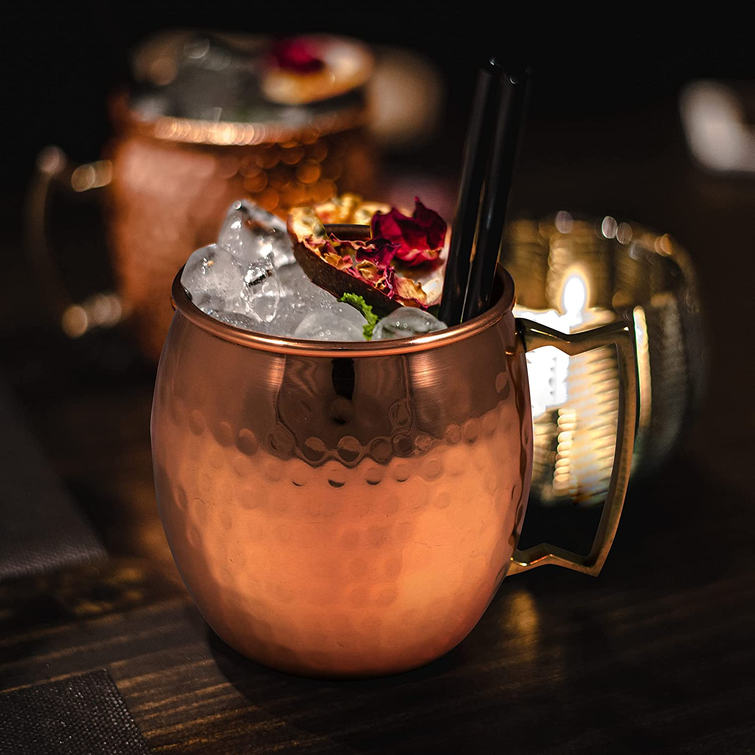 MyArtsyHouse Moscow Mule Mug 100% 5 ☆ popular Mugs Hammere Copper Inventory cleanup selling sale Pure Solid