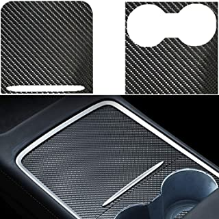 DIBMS Center Console Wrap Compatible with 2021 Tesla Model 3 Model Y PVC Material Center Console Cover Interior Decoration...