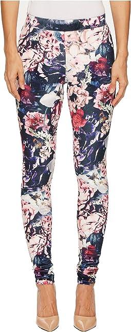 HUE - Gala Floral Velvet Leggings