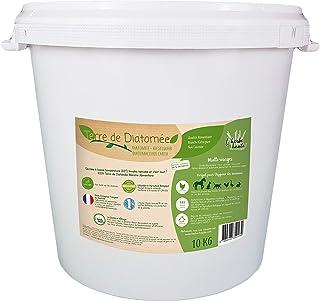 l'herbe Haute ® Terre de Diatomée Blanche Alimentaire - 10 kg Seau - Utilisable en Agriculture Biologique - Origine Nature...