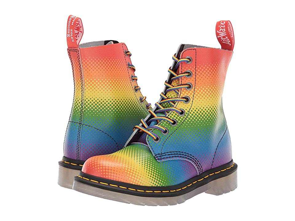 Dr. Martens Pascal Pride (Multi Pride Rainbow Backhand) Lace-up Boots
