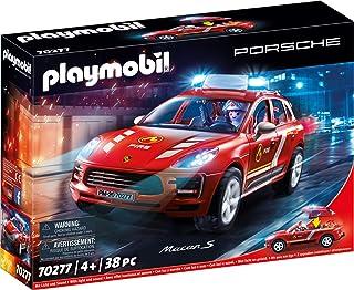Playmobil Porsche 70277 Porsche Macan S Brandweer, Met Licht- En Geluidseffecten, Vanaf 4 Jaar, 28,5 x 12,5 x 9,5 cm, Meer...