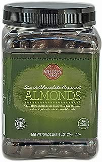 wellsley Farms Dark Chocolate Covered Almonds, 45 Oz