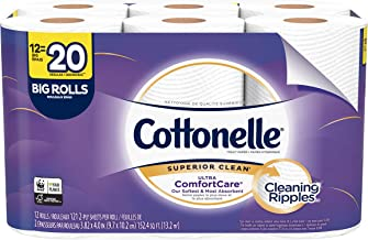Cottonelle Ultra ComfortCare Toilet Paper, Soft Bath Tissue, Septic-Safe, 12 Big Rolls