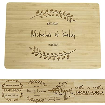 Organic Veggies Who can tell the difference Donuts BungalowBoo Custom Engraved Bamboo Cutting Board