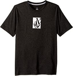 Volcom Kids - Lido Pixel Heather Short Sleeve Thrashguard (Big Kids)