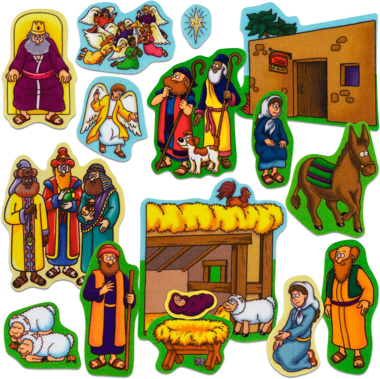 Little Folk Visuals Beginners Bible: Precut NEW High quality before selling F Jesus Flannel Baby