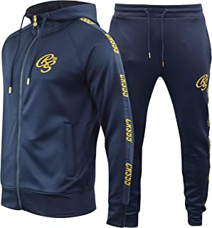 Crosshatch Mens Full Tracksuits Tricot Jogging Bottoms Gym Sweat Suits Hooded Full Zip Sport Jacket Pant