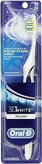 Oral-B Pulsar 3D White Advanced Vivid Toothbrush Medium, Colors May Vary (Pack of 3)