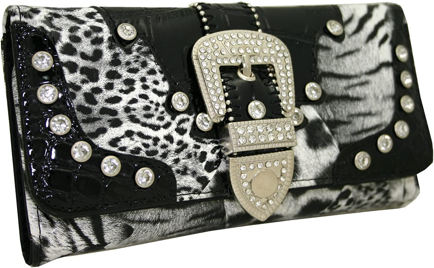 Western Rhinestone Limited time sale Bling Max 61% OFF Buckle Wallet