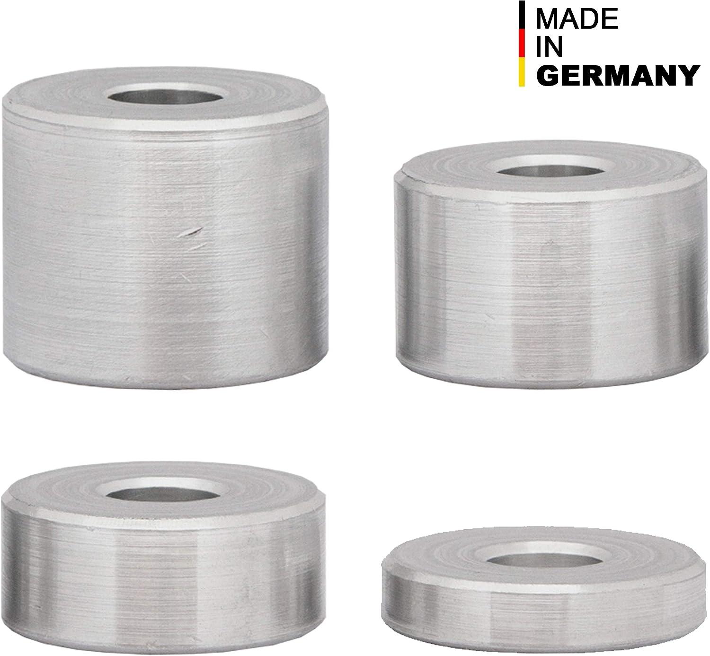 24 x 8,5 x 15 mm FASTON Lot de 10 douilles entretoises pour M8 en aluminium