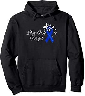 Colon Colorectal Cancer Royal Blue Ribbon Remembrance Pullover Hoodie