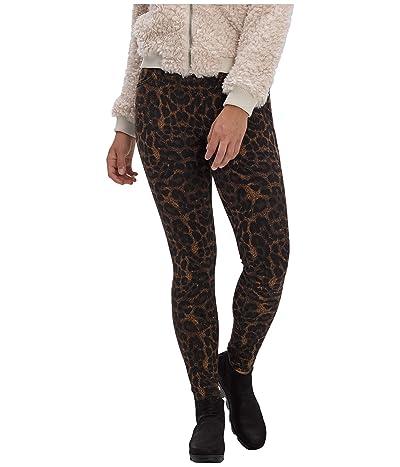 HUE Ikat Animal Denim High-Rise Leggings (Brown) Women