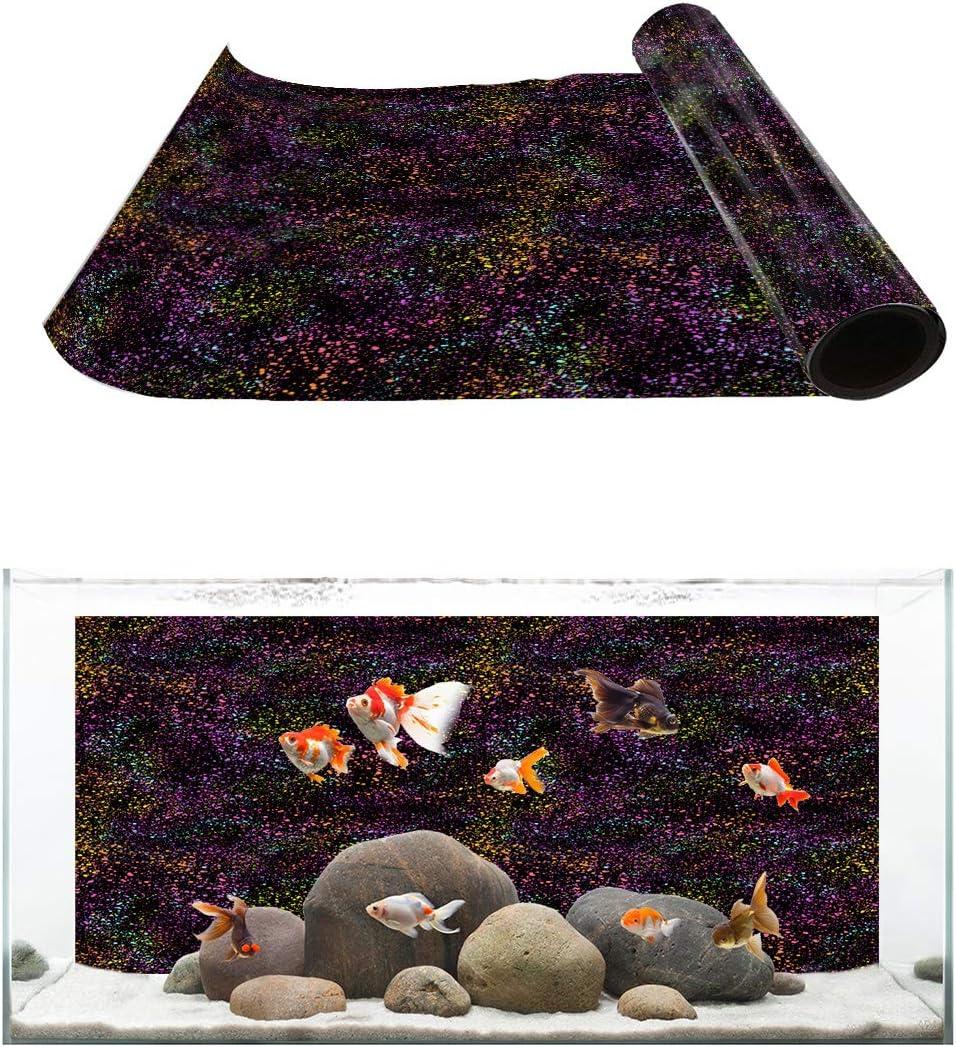 TH XHome Aquarium Décor Superior Backgrounds Colorful Splash Purchase Pattern Fis
