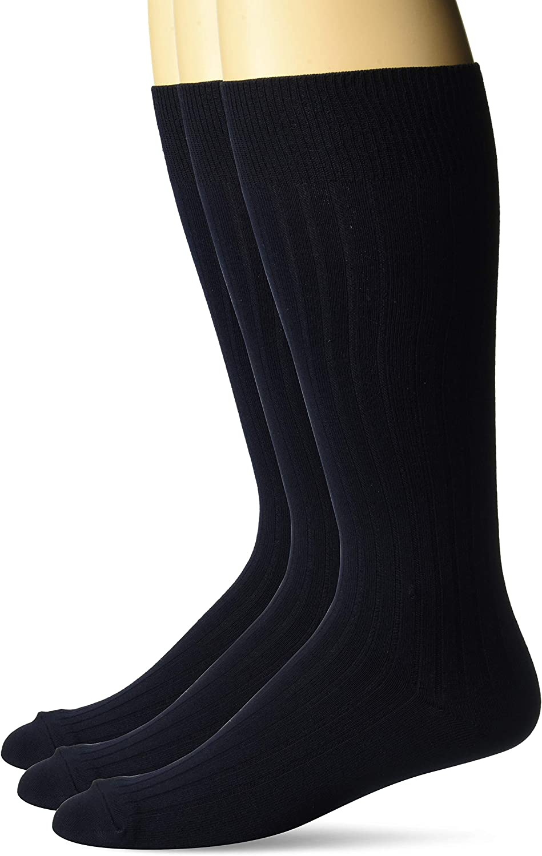 Buttoned Down Men's 3-Pack Silky Thin Dress Socks