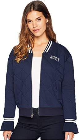 Quilted Terry Bomber Jacket