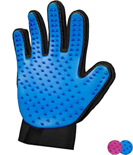 Zenify Pet Hair Remover Dog Grooming Glove Cat Brush Fur Removal Groomer Supplies for Short Haired Cats Puppy Dogs Horses ...