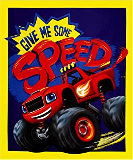 Springs Creative Products Nickelodeon Blaze Give Me Some Speed 36 in. Panel Blue Fabric