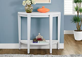 "Monarch Specialties Console Table - Narrow Entry Table, 36"" L (White)"