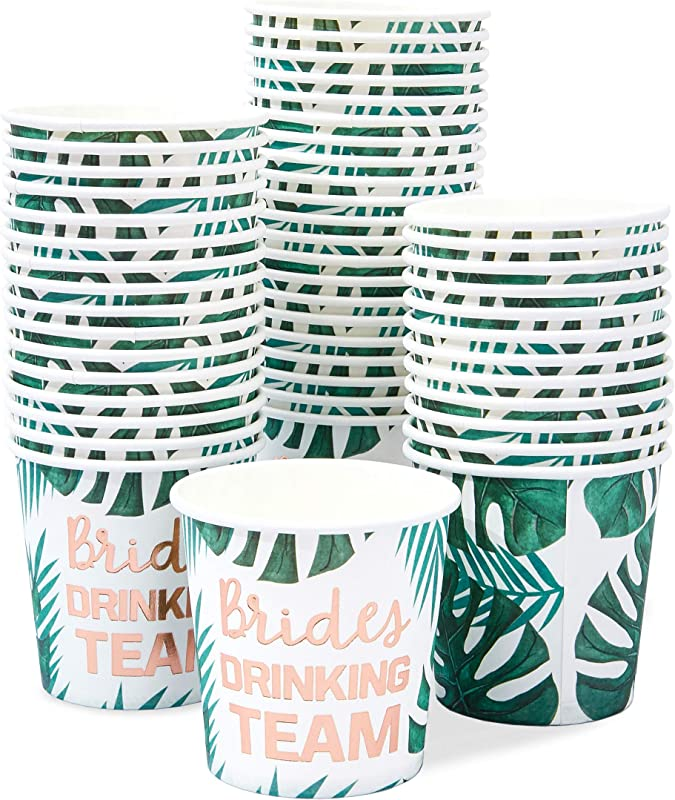 Brides Drinking Team Paper Cups For Bachelorette Party And Bridal Shower 50 4oz