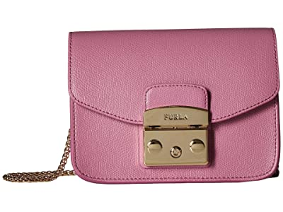 Furla Metropolis Mini Crossbody (Azalea) Cross Body Handbags