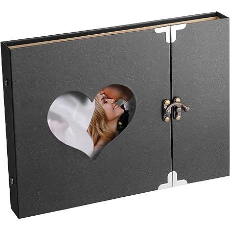 Album Photo Scrapbooking, DIY Scrapbooking Livre Souvenirs Albums Photo Pour Bébé Enfant, Photo Scrapbook Pour Anniversaire de Mariage, Voyage, D'anniversaire Cadeaux (Noir)
