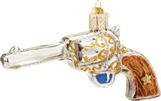 Old World Christmas Gun Collection Glass Blown Ornaments for Christmas Tree Western Revolver