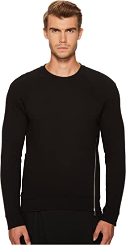 McQ - Twisted Zip Crew Neck Sweatshirt