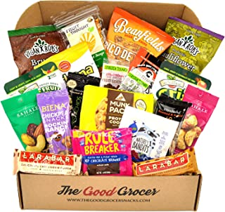 Premium GLUTEN FREE and VEGAN (DAIRY FREE) Healthy Snacks Care Package (20Ct): Featuring Delicious, Wholesome, Nutrient Dense Gluten Free and Vegan snacks. Office College Client Gift Box Basket