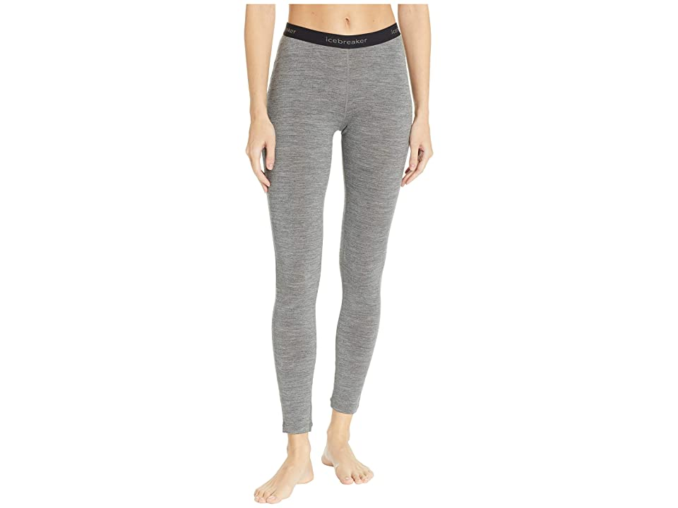 Icebreaker 200 Oasis Merino Base Layer Leggings (Gritstone Heather) Women