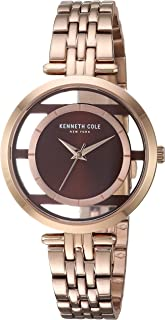 Kenneth Cole New York Women's TRANSPARENCY Japanese-Quartz Watch with Stainless-Steel Strap, Rose Gold, 13 (Model: KC50922004)