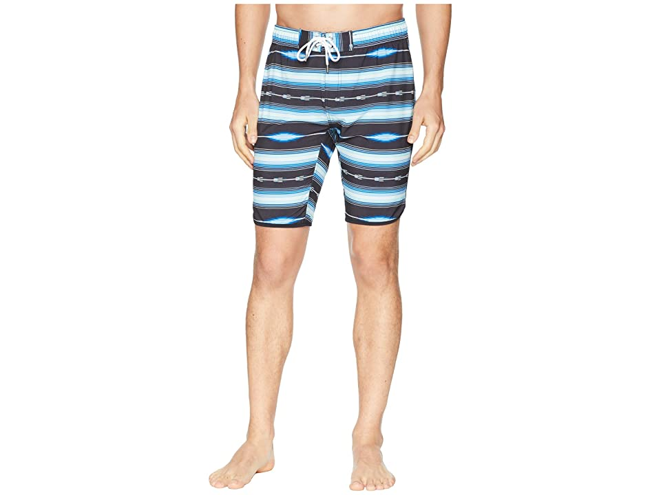2(X)IST Jogger Slim Boardshorts (Fiesta Stripe Black) Men