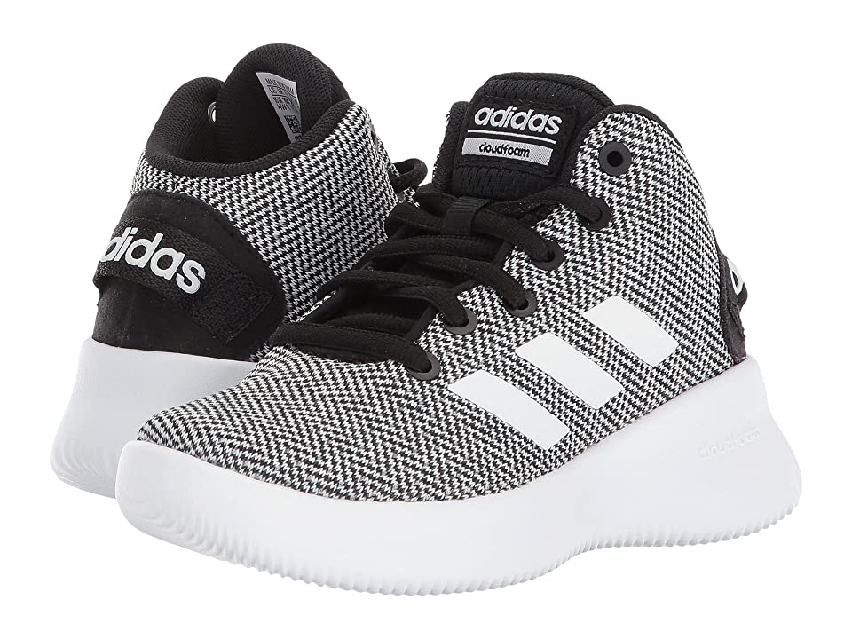 adidas Kids Cloudfoam Refresh Mid (Little Kid/Big Kid) (Black/White/Black) Kids Shoes
