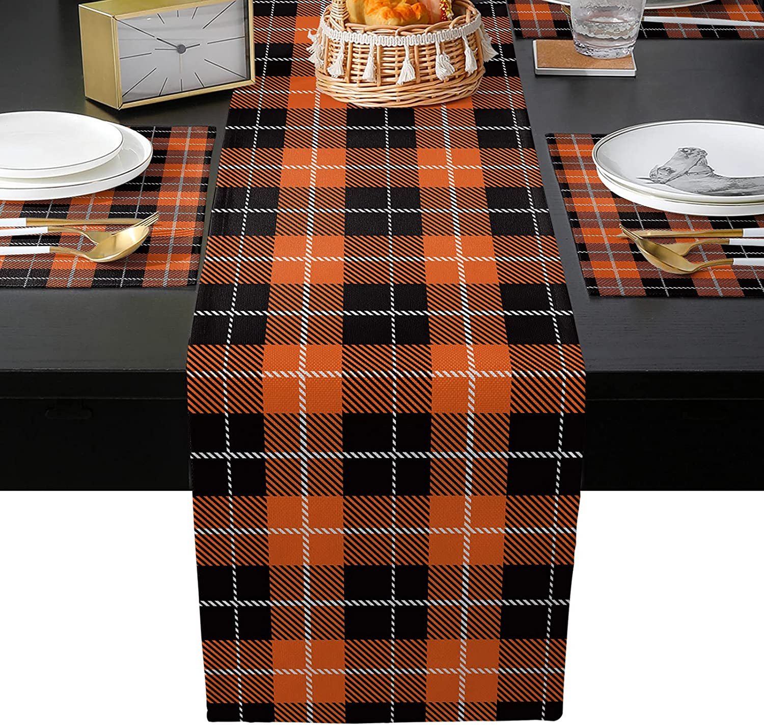 BABE MAPS Buffalo Plaid Table Set Accessories High quality new Brand Cheap Sale Venue Runner with