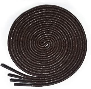 lorpops Round Waxed Shoelaces (2 Pairs) - for Oxford Shoes Round Dress Shoes Boots Leather