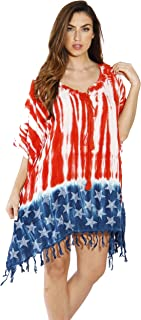 Riviera Sun American Flag Caftan Swimsuit Cover Up Caftans