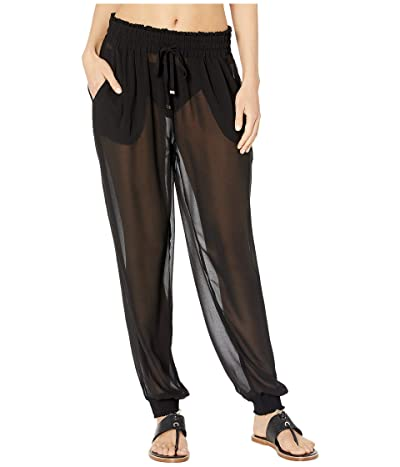 Kate Spade New York Solids Cover-Up Pants (Black) Women