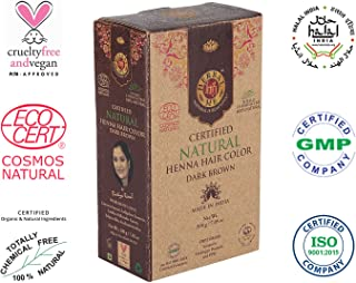 Herbal Me - Dark Brown Henna Hair Color 7.05 oz, CERTIFIED 100% Natural by Ecocert (France).VEGAN & HALAL approved, Zero chemicals
