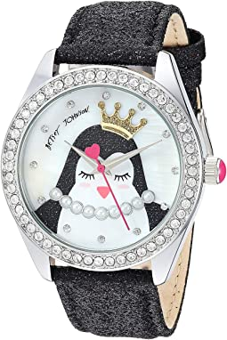 BJ00048-277 - Penguin Motif Dial & Black Strap Watch