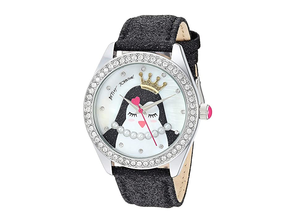 Betsey Johnson - Betsey Johnson BJ00048-277 - Penguin Motif Dial Black Strap Watch