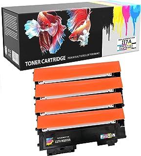 Prestige Cartridge 4 x Compatibles 117A con Chip (W2070A, W2071A, W2072A, W2073A) Cartuchos de Tóner Láser para Impresoras HP Color Laser 150a 150nw 150w MFP 178nw 178nwg 179fnw 179fwg