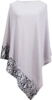 Lightweight Poncho with Buttons, Knitted Scarf Shawl Wrap Cape Ponchos for Women