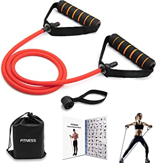 Exercise Resistance Bands with Handles, Comfortable and Non-Slip Handles with Door Anchor and Storage Bag, Professional Wo...