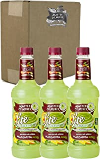 Master of Mixes Margarita Lite Drink Mix, Ready To Use, 1 Liter Bottle (33.8 Fl Oz), Pack of 3