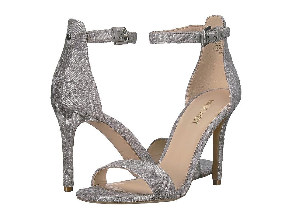 Nine West Mana Stiletto Heel Sandal (Light Grey Fabric) High Heels