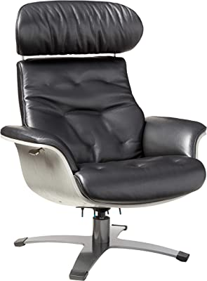 J and M Furniture Karma Black Living Room Leather Chair
