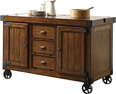 ACME Furniture 98186 Kabili Kitchen Cart, Antique Tobacco